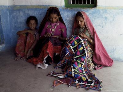 Tribal Crafts of Embroidery and Applique, Kutch District, Gujarat State, India