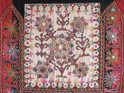 Traditional Rabari Tribal Embroidered Fabrics, Kutch, Gujarat State, India
