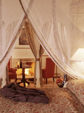 Detail of Guest Bedroom, Samode Palace Hotel, Samode, Rajasthan State, India