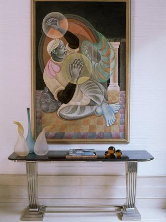 Painting by Satish Gujral in Contemporary Home of Wealthy Owner from India's Merchant Class, India