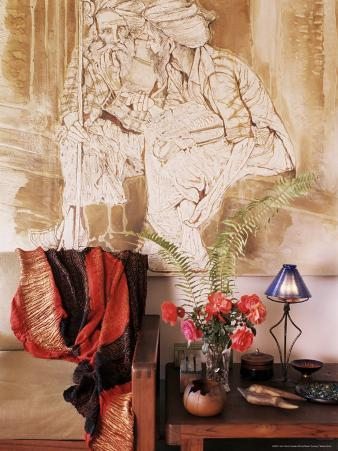 Painting by Jaya Rastogi Wheaton, in Artist's House in Jaipur, Rajasthan State, India