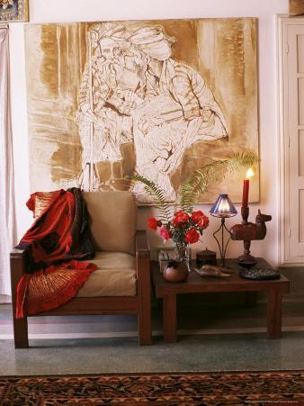 Paintings by Jaya Rastogi Wheaton, in Artists House in Jaipur, Rajasthan State, India