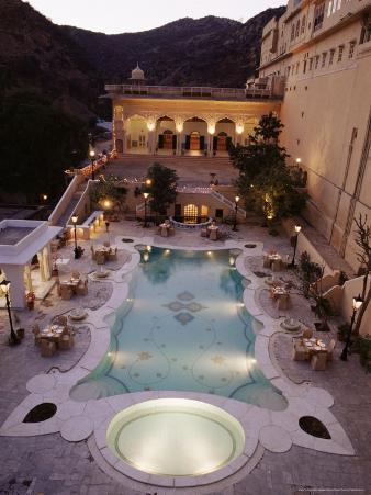 Swimming Pool, Samode Palace Hotel, Samode, Rajasthan State, India