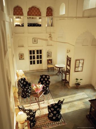 Private Sitting Area in One of the Bedroom Suites, Neemrana Fort Palace Hotel, Neemrana, India