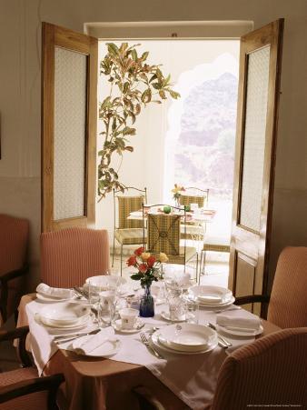 Dining Hall, Samode Palace Hotel, Samode, Rajasthan State, India