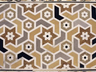 Detail of the Fine Stone Inlay Work to be Found Inside and Outside the Tomb, Agra, India