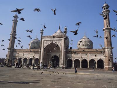 The Jama Masjid (Friday Mosque), Old Delhi, Delhi, India