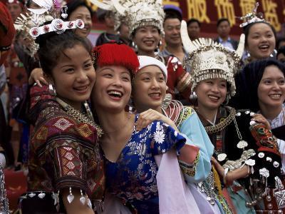 Opening of China National Costume Exhibition, Kunming, Yunnan, China