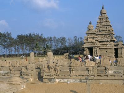 Shore Temple at Mahabalipuram, Unesco World Heritage Site, Chennai, Tamil Nadu, India