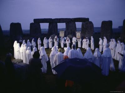 Druids at Stonehenge, Wiltshire, England, United Kingdom