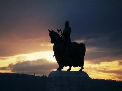 Statue of Robert Bruce, Bannockburn, Stirlingshire, Scotland, United Kingdom