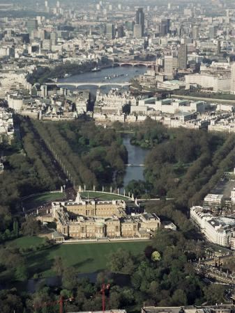 Aerial View Including Buckingham Palace, London, England, United Kingdom