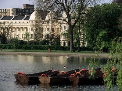 Boats on the Lake, Regents Park, London, England, United Kingdom