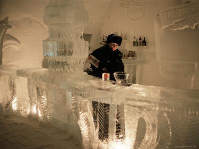 Smirnoff Ice Bar, Ice Hotel, Quebec, Quebec, Canada