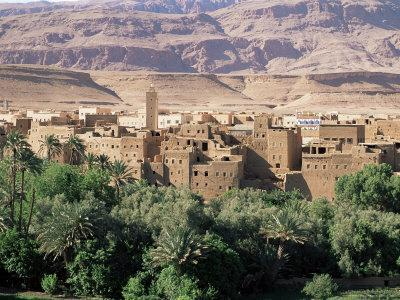 Kasbahs in the Draa Valley, Morocco, North Africa, Africa