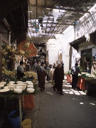 The Souk in the Medina, the Old Walled Town, Fes, Morocco, North Africa, Africa
