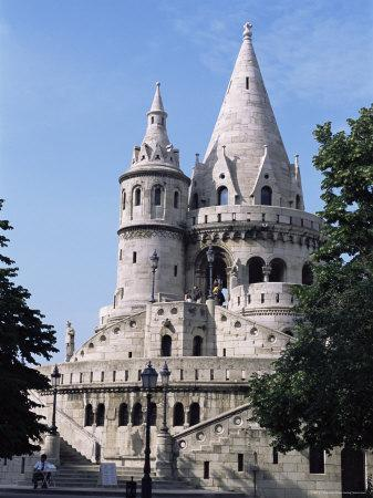 The Fisherman's Bastion in the Castle Area of Old Buda, Budapest, Hungary