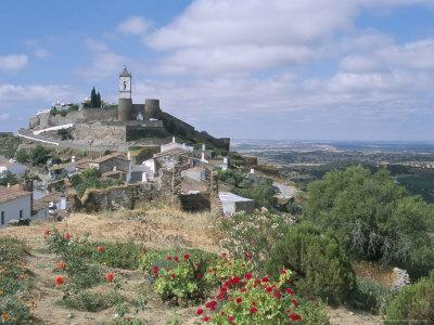 Hill Village of Monsaraz Near the Spanish Border, Alentejo Region, Portugal
