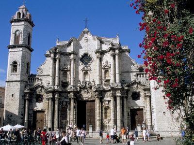 Catedral De San Cristobal, Old Havana, Havana, Cuba, West Indies, Central America