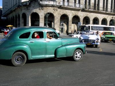Old American Cars, Havana, Cuba, West Indies, Central America