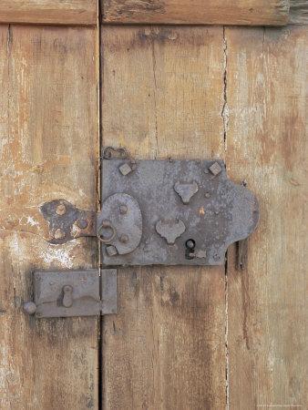 Close-Up of Lock on an Old Door, Goreme, Cappadocia, Anatolia, Turkey