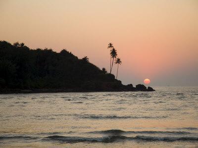 Sunset Over the Arabian Sea, Mobor, Goa, India