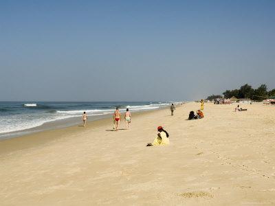 Beach Near the Leela Hotel, Mobor, Goa, India