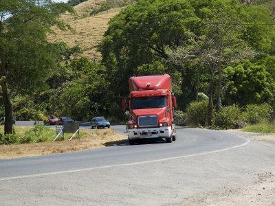 Truck on Pan American Highway, Near San Jose, Costa Rica, Central America