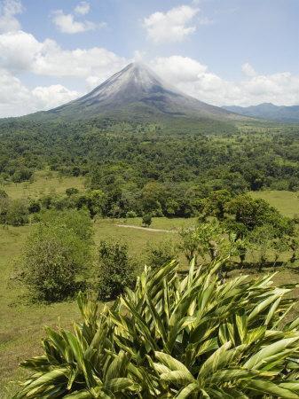 Arenal Volcano from La Fortuna Side, Costa Rica, Central America