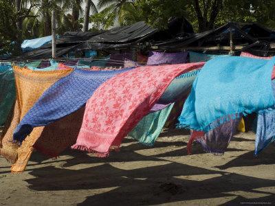 Colourful Beach Wraps for Sale, Manuel Antonio, Costa Rica, Central America