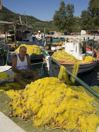 Fishing Boats, Poli Bay, Ithaka, Ionian Islands, Greece