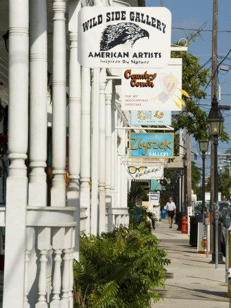 Galleries on Duval Street, Key West, Florida, USA