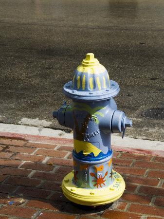 Painted Fire Hydrant, Key West, Florida, USA