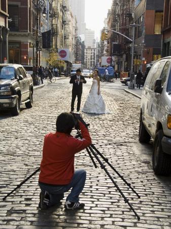 Wedding Photo Shoot in Soho, Manhattan, New York City, New York, USA