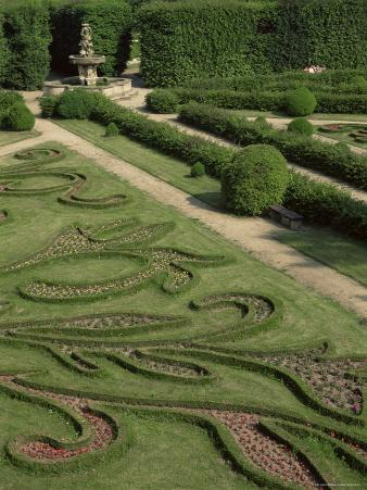 Garden of Flora, Kromeriz Palace, Unesco World Heritage Site, South Moravia, Czech Republic