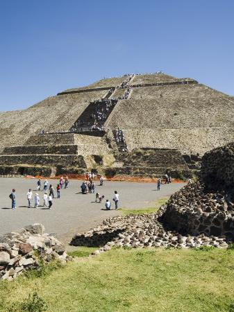 Pyramid of the Sun, Teotihuacan, 150Ad to 600Ad and Later Used by the Aztecs, North of Mexico City