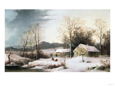 Farmstead in Winter, 1860