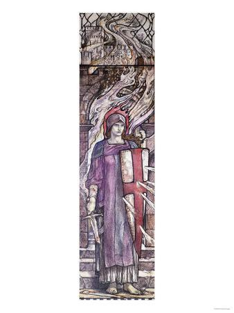 Fortitude: Design for Stained Glass at All Saints Church, Eastchurch, Isle of Sheppey, Circa 1912