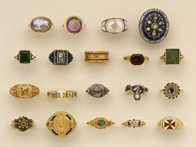 A Selection of Renaissance Style, Napoleonic, Late Georgian and Victorian Rings