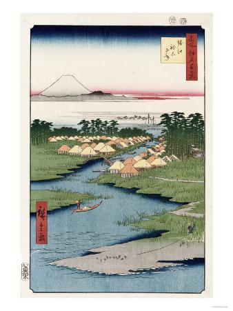 Nekozane at Horikiri', from the Series 'One Hundred Views of Famous Places in Edo'