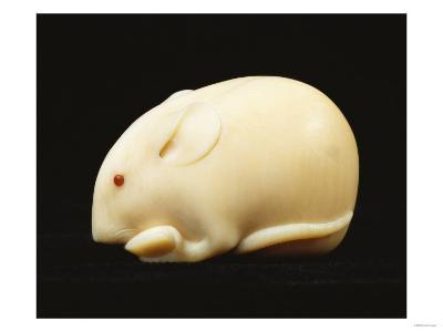 An Ivory Netsuke of a Rat