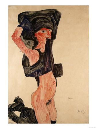 Kneeling Girl, Kniedes Maedchen, 1910