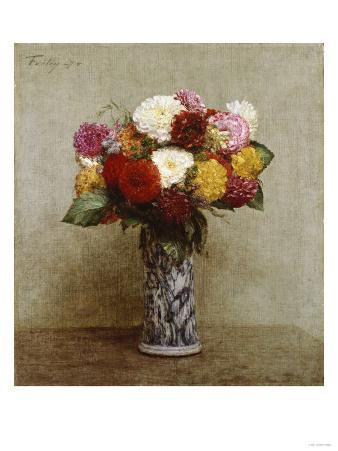 Dahlias in a Chinese Vase, 1874