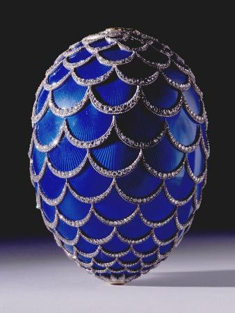 A Highly Important Faberge Easter Egg, Workmaster Michael Perchin, St. Petersburg, 1900