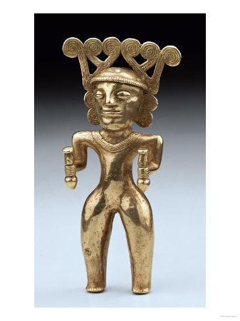 A Rare International Style Gold Figure of a Shaman, Circa A.D. 500, 1000