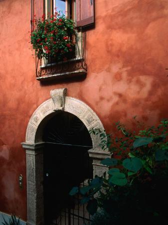 Building Facade on Piazza Bra, Verona, Veneto, Italy