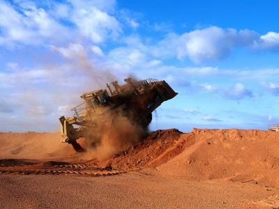 Giant Vehicle at Bauxite Mine, Weipa, Queensland, Australia