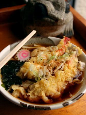 Dish of Tempura Prawns with Udon Noodles, Tokyo, Kanto, Japan