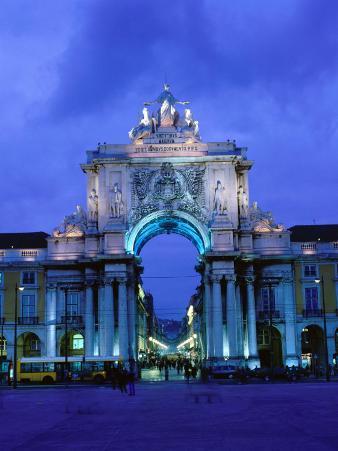 Praca de Comercio Arco de Victoria, Lisbon, Portugal