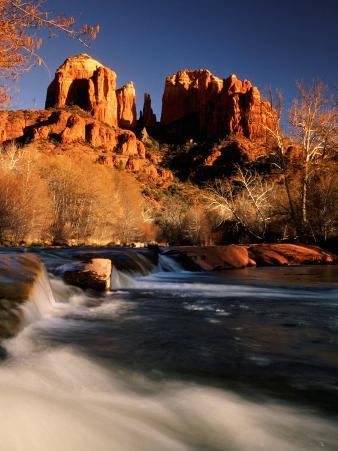 Sunset on Cathedral Rock, Oak Creek, Sedona, Arizona